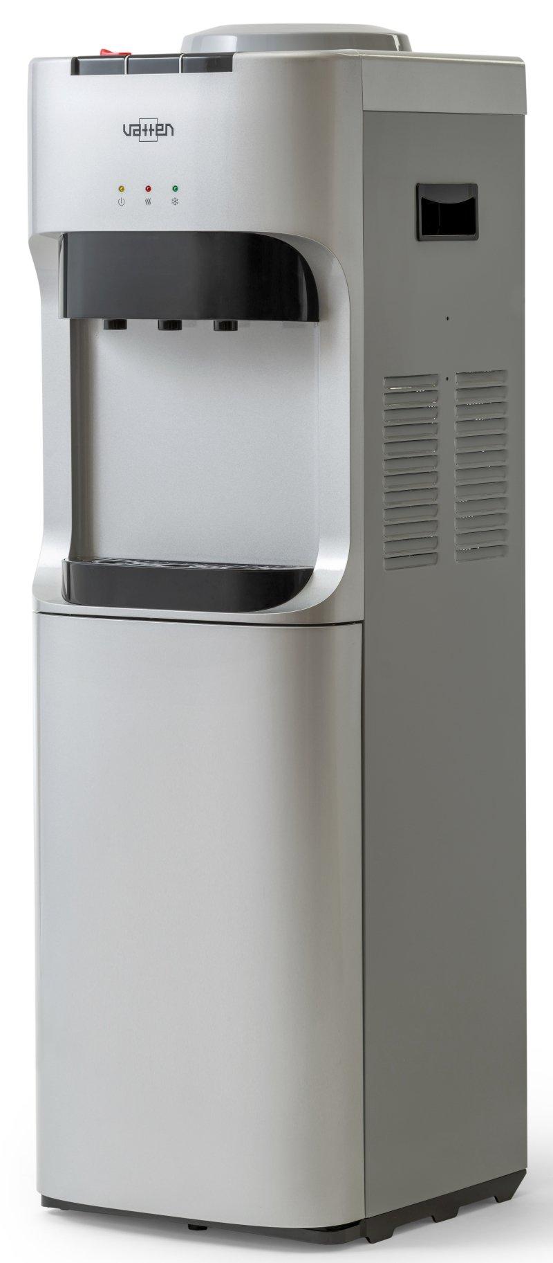Кулер для воды VATTEN V45SKB напольный, с нагревом и охлаждением, с холодильником