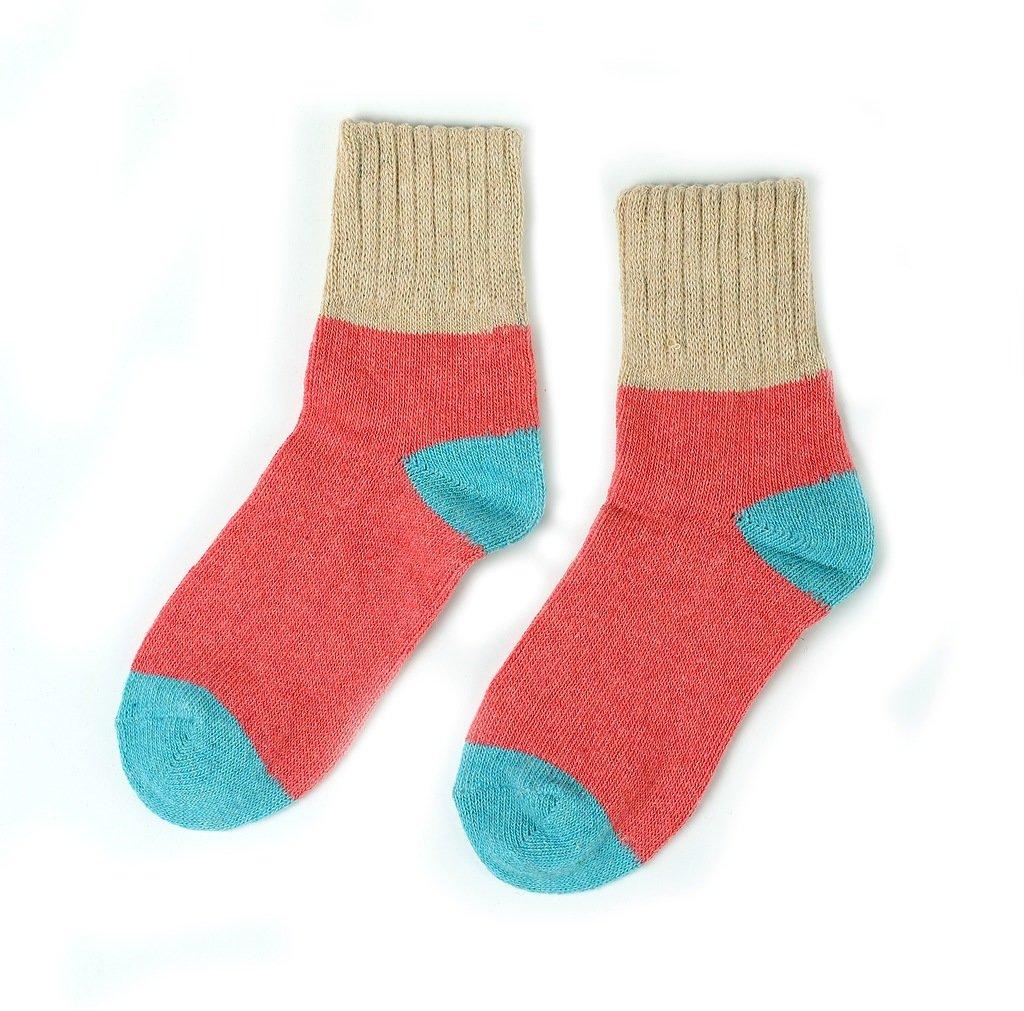 Носки Трехцветные. Голубо-бежевые р.37-40