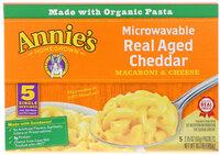 Annie's Homegrown Макароны с сыром для микроволновой печи настоящий чеддер 5 пакетиков 215 унции (61 г) каждый