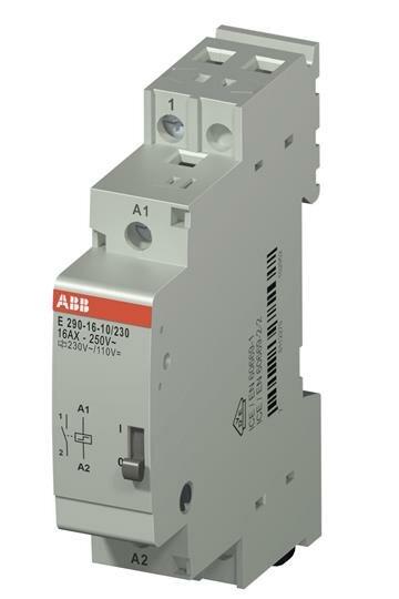Реле импульсные E290-16-10/230 Блокировочное реле, 1НО, 16A, 230В AC/ 110В DC ABB