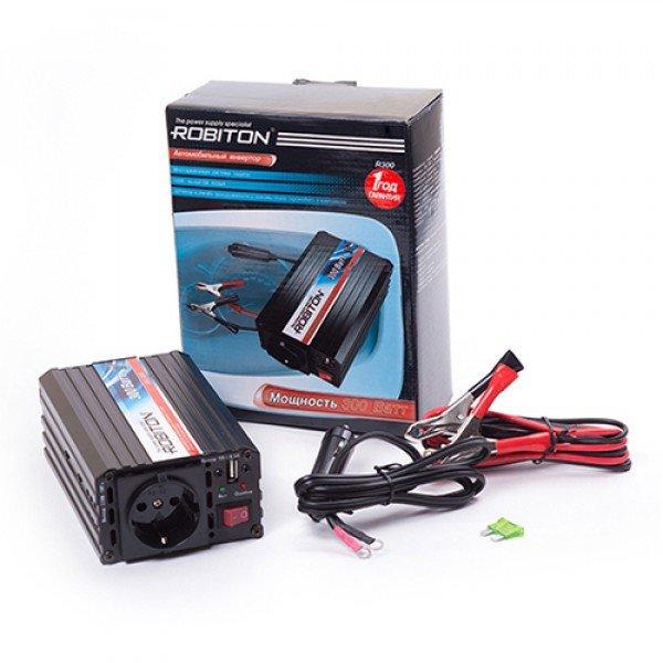 Инвертор автомобильный 12-220В ROBITON R300 300Вт на 1 розетку модифицированная синусоида Robiton 1098-02
