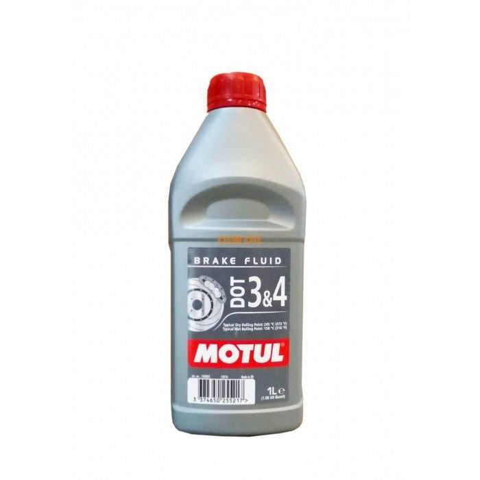 Тормозная жидкость Motul DOT 3&4 BRAKE FLUID 1л (105835)