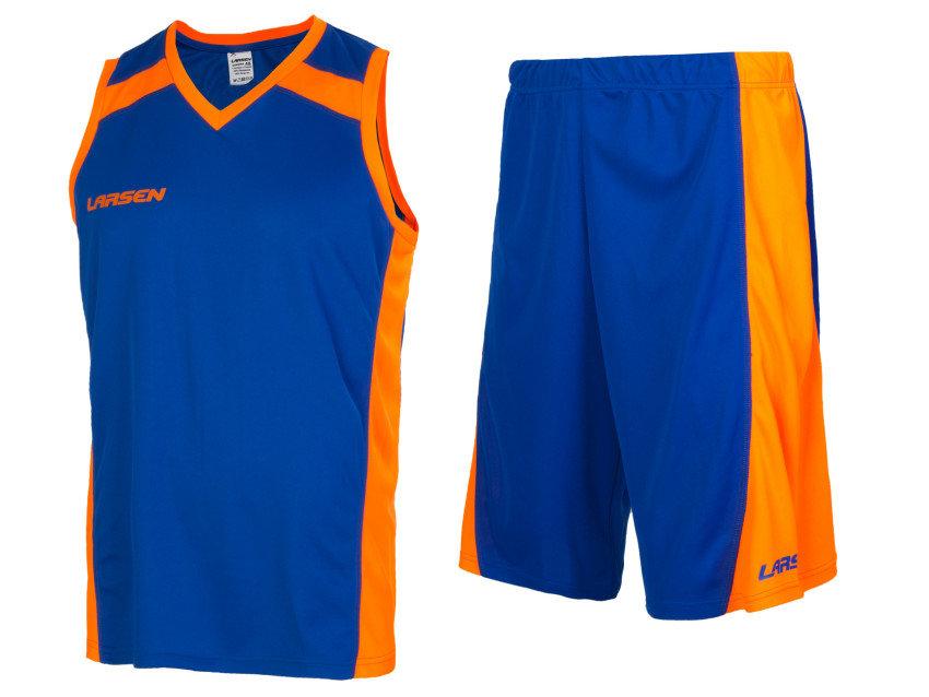 "Форма баскетбольная Larsen ""831-731"", цвет: синий/оранжевый, размер 52"