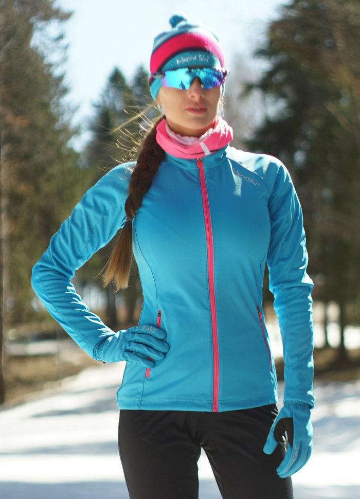 Куртка разминочная NORDSKI Elite G-TX женская 543170W голубой/розовый