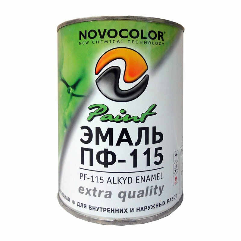 Эмаль Novolocor ГОСТ ПФ-115 белая матовая (0,9 кг)