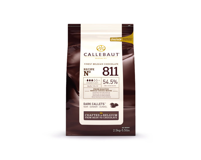 Шоколад тёмный Callebaut 54,5%, 2,5 кг