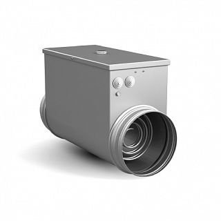 Круглый электрический канальный нагреватель 100/0,5 кВт