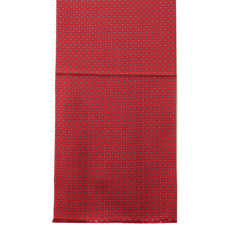 Классический мужской шарф красного цвета Club Seta 57236