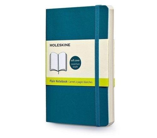 """Записная книжка нелинованная """"Classic Soft"""" Pocket, 192 стр., бирюзовая"""