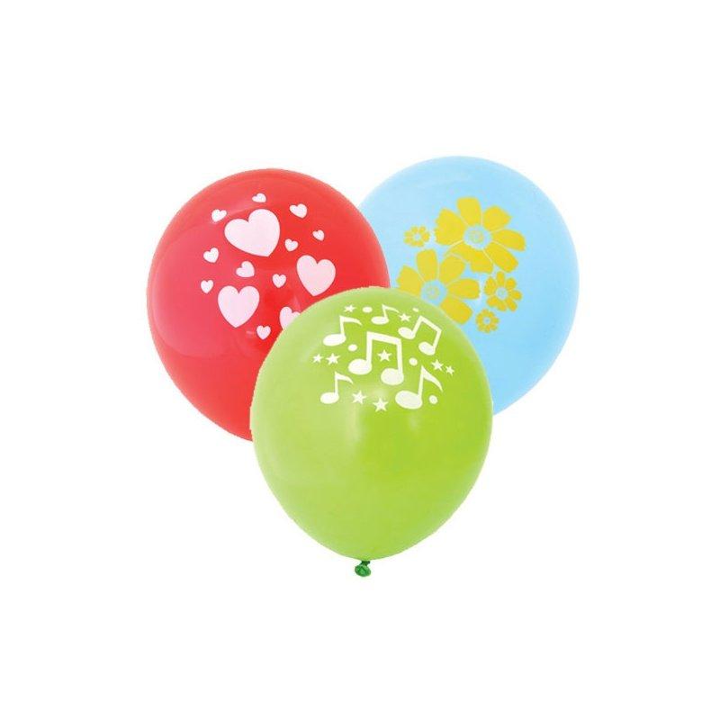 Воздушные шары ACTION! API0071/M с одноцветным рисунком 100шт