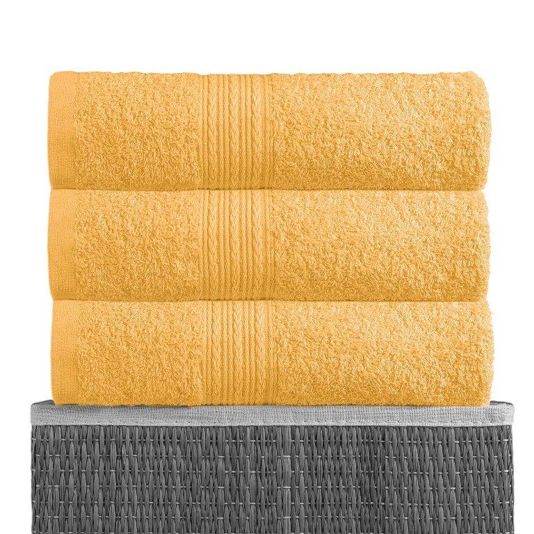 Полотенце Желтое, ткань махра, размер 50х90 1шт., BAYRAMALY