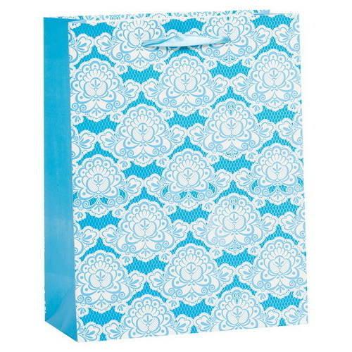 Пакет Орнамент Голубой - 18*23*10 см.