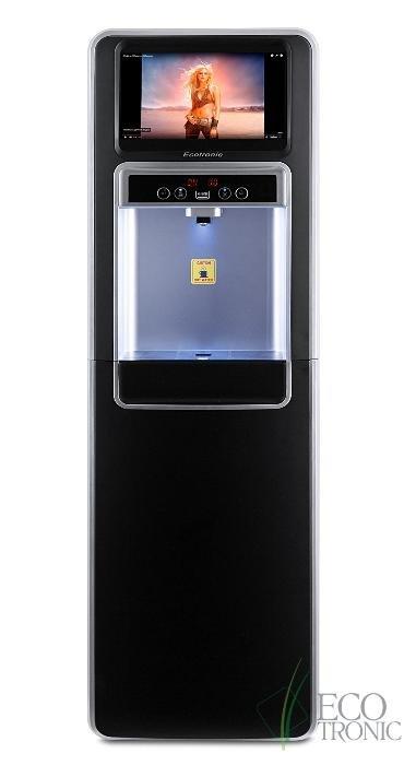 Кулер для воды (Экотроник) Ecotronic P5-LXAD напольный с нижней загрузкой бутыли, с дисплеем для видео