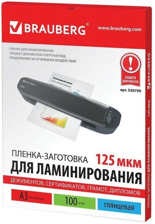Пленки-заготовки для ламинирования BRAUBERG 530799 100 шт.