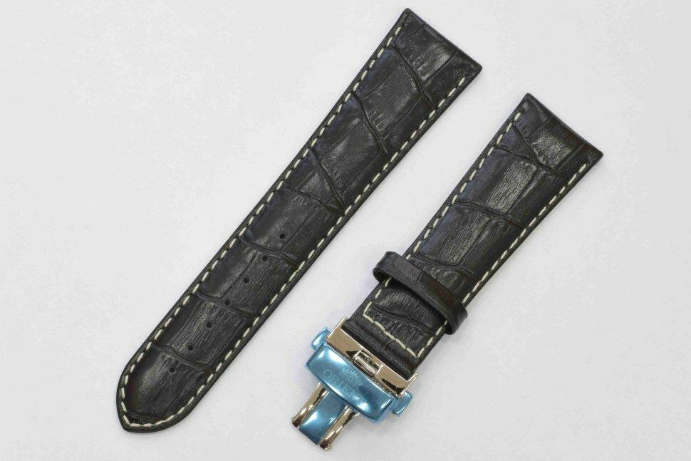 Черный кожаный ремешок ORIENT UDCVWSB с клипсой для FETAC006B