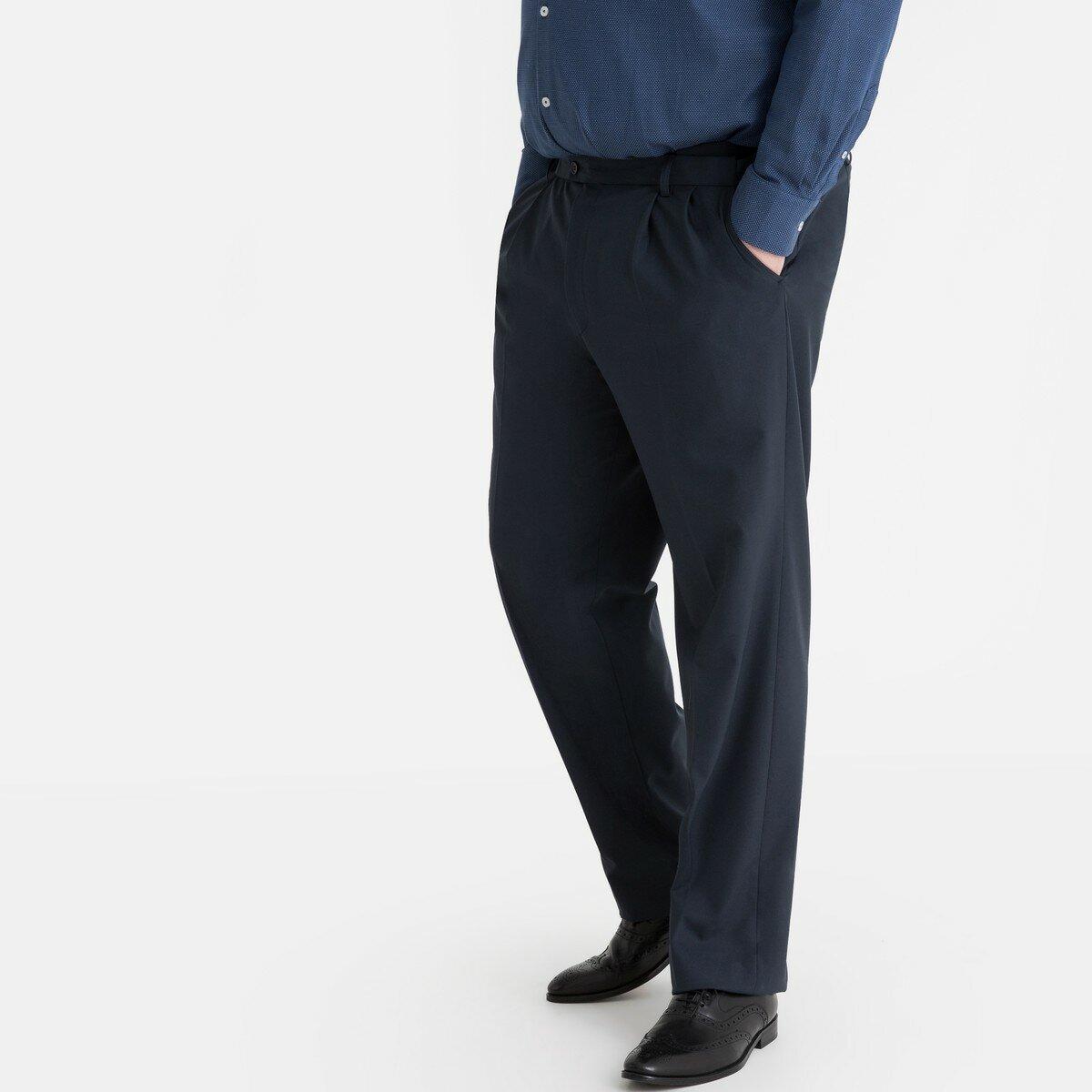 Брюки La Redoute От костюма с защипами из ткани стретч длина