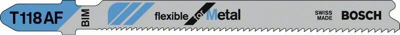 Пильное полотно T 118 AF Bosch Flexible for Metal (2608634694)