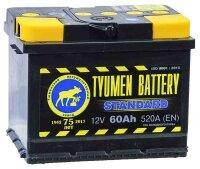 Аккумулятор автомобильный TYUMEN BATTERY STANDARD 60 А/ч 520 А прям. пол. (Росс. авто) (242x175x190)
