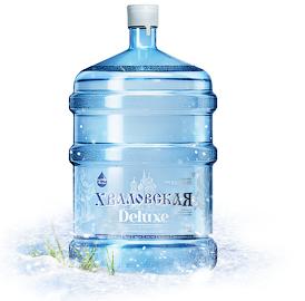 Питьевая природная вода для кулера 19 литров Хваловская Deluxe