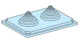 Сальниковая панель с 2 отверстиями IP55 Schneider Electric, 08899