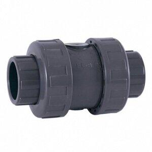Клапан обратный подпружиненный ПВХ, EPDM Cepex, разборные муфтовые окончания (клеевой), диаметр 90 мм, PN=10 Cepex Обратный клапан подпружиненный