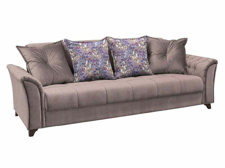 Прямой диван Первый Мебельный Ирис Фиолетовый