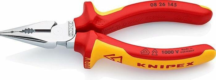 Пассатижи Knipex, удлиненные, KN-0826145, желтый, красный, 145 мм