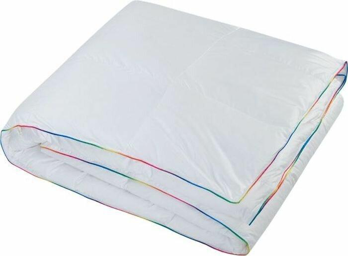 Одеяло Dargez Ривьера, 22812Р, наполнитель пух, белый, 140x205