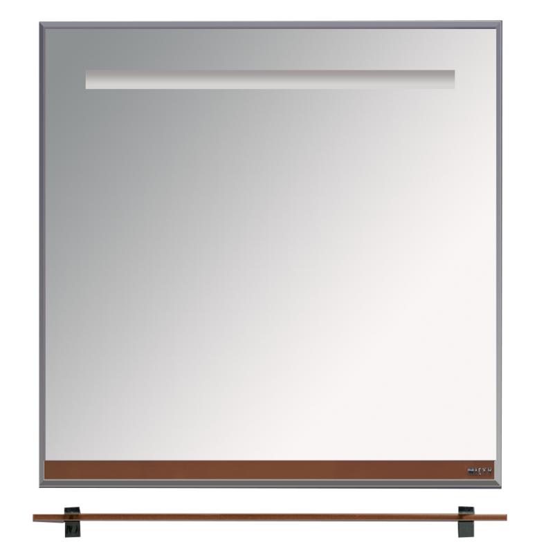 Misty Зеркало с полочкой Джулия Л-Джу03075-1410, коричневое стекло