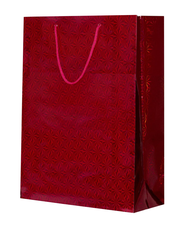 Подарочный пакет красный (32х45)