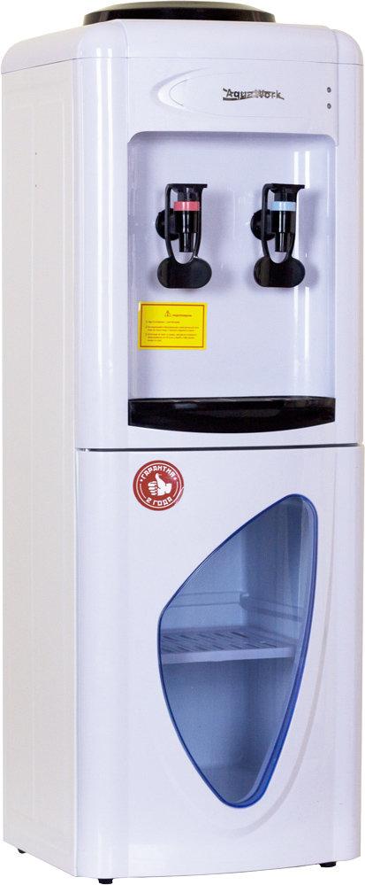 Кулер для воды Aqua Work 0.7-LD белый со шкафчиком
