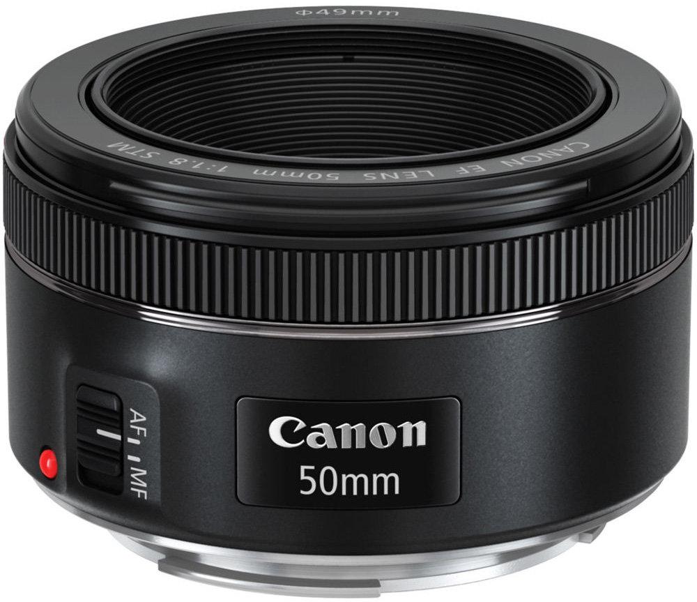 Объектив Canon EF 50mm f/1.8 STM (черный)