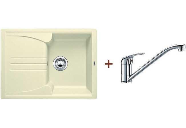 Кухонная мойка Blanco комплект из мойки ENOS 40 S жасмин и смесителя DARAS хром (514230D1)