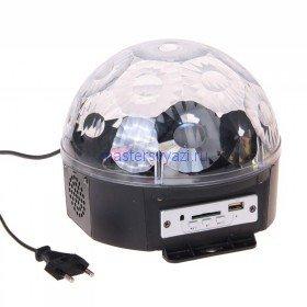 Световой прибор Радужный шар, d20 см, с музыкой и пультом V220