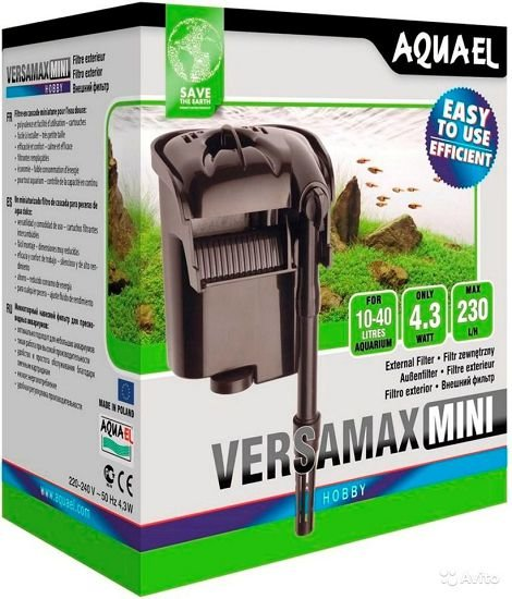 Aquael Versamax FZN-mini (водопад) рюкзачный аквариумный фильтр, 230 л/ч