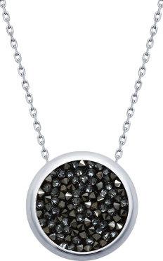 Серебряное колье цепь с подвесками SOKOLOV 94070119_s с кристаллами Swarovski, размер 50 мм