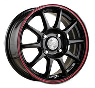 Диск RACING WHEELS H-422 6.5x15/5x105 D56.6 ET35 BK-LRD - фото 1