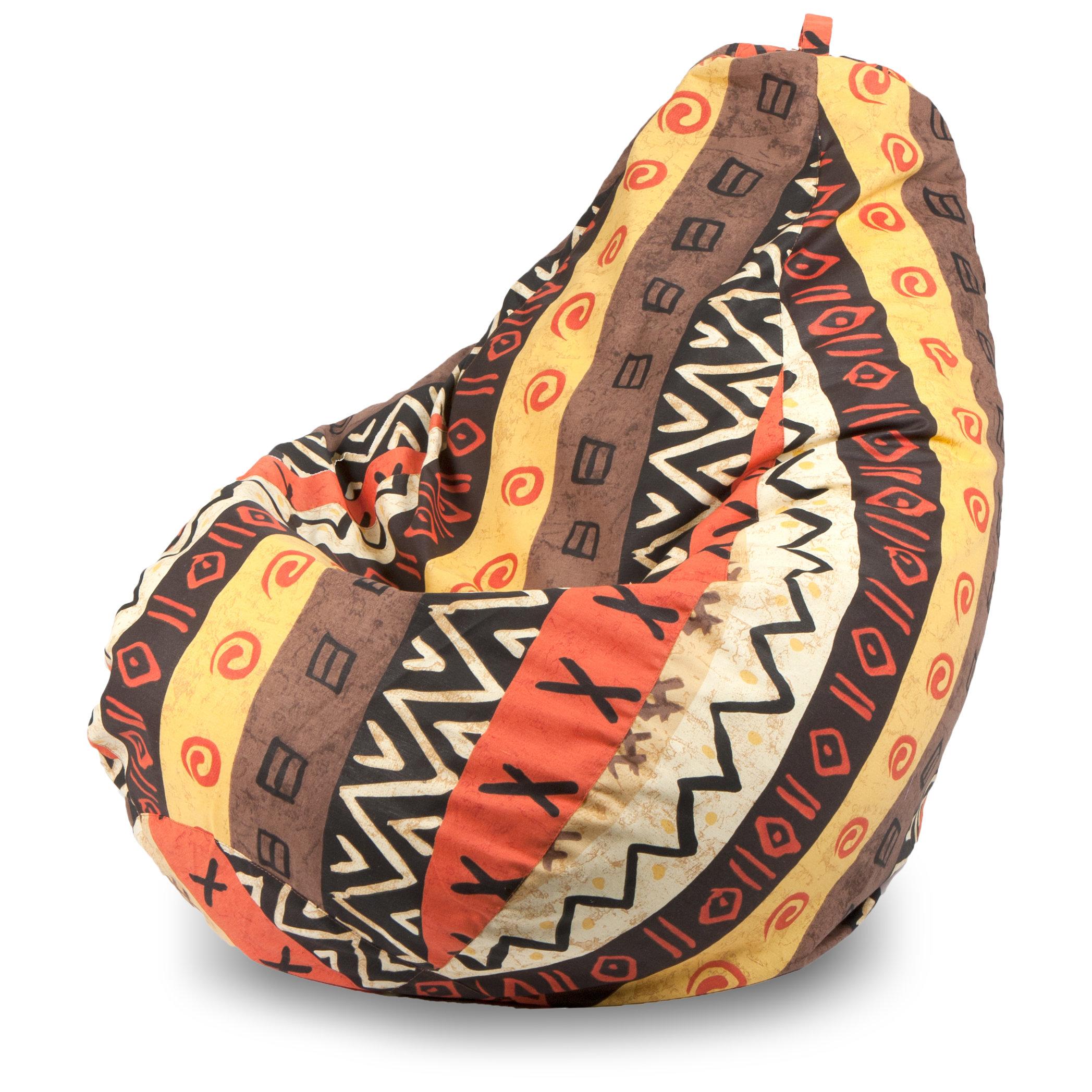 Кресло-мешок груша XL, Жаккард Африкан