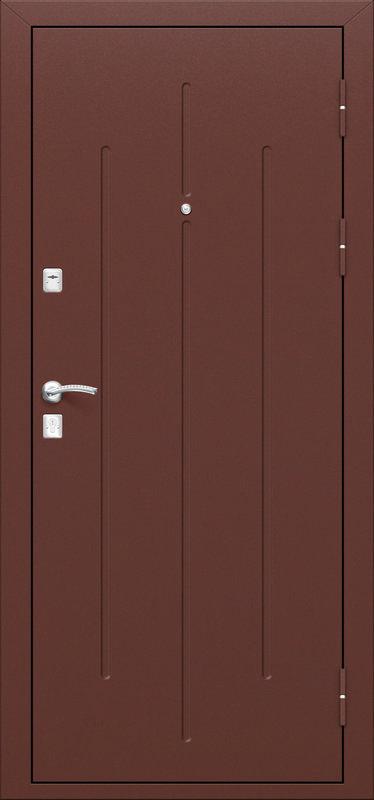 Стальная дверь Стройгост 7-2 в цвете Антик Медь