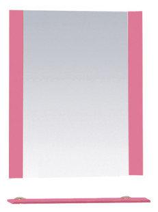Misty Зеркало с полочкой Жасмин П-Жас03060-122, розовая пленка