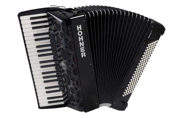 HOHNER Amica Forte IV 120 Black (A38321) - полный концертный аккордеон, 4-х голосный, правая клавиатура - 41 клавиша, 11 регистр