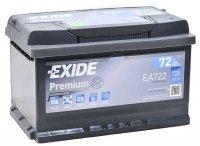 Аккумулятор автомобильный Exide Premium 72 А/ч 720 A обр. пол. низкий EA722 Евро авто (278x175x175)