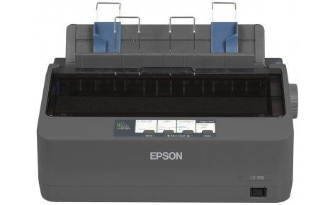 Принтер EPSON LX-350, формат A4, матричный, серый (C11CC24031)