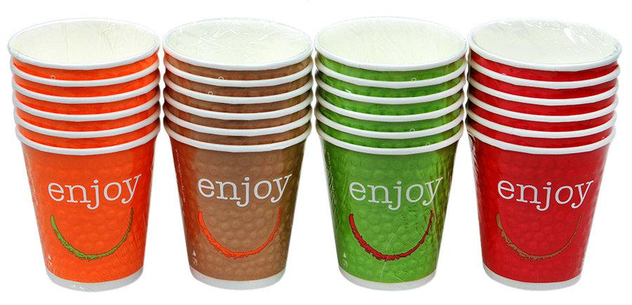 Набор стаканов Мистерия Green Enjoy бумажный, 0,2л