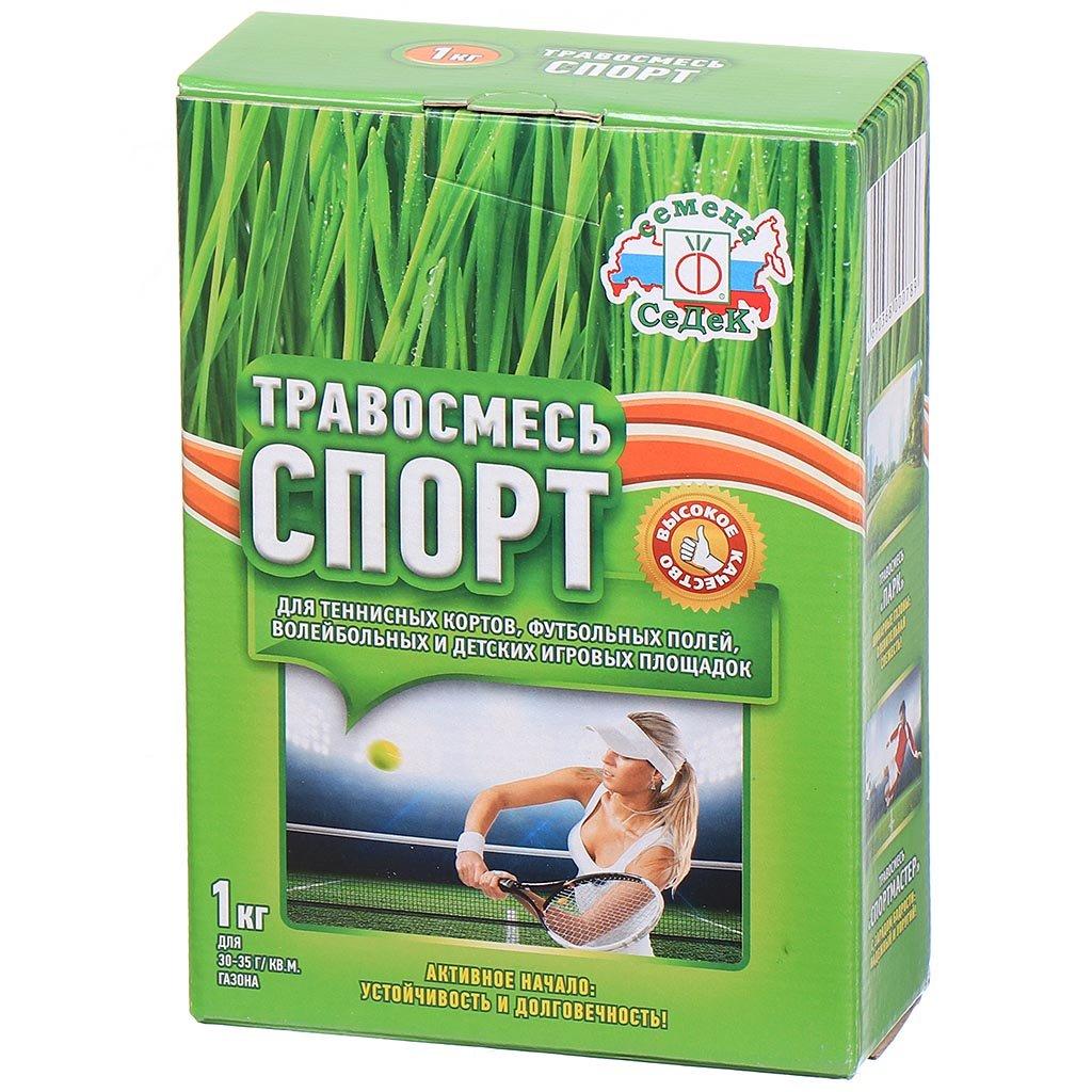 Семена газона Спорт в цветной упаковке, 1000 г, Седек