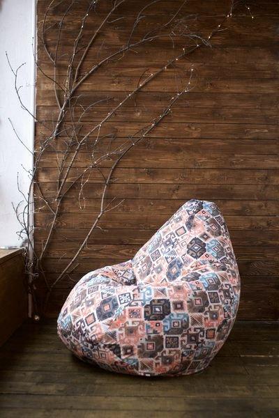 Superpuff Кресло мешок Carpet Brown XL Кресло мешок груша
