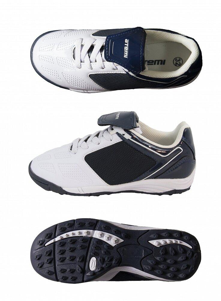 Бутсы футбольные Atemi SD803 INDOOR, бело-синие (размер 39)