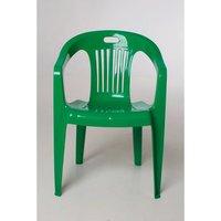 Кресло пластиковое Комфорт зеленое 78х53,5х54 см
