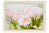 Репродукция в раме 82,5х62,5 см Hoff Розовые тюльпаны