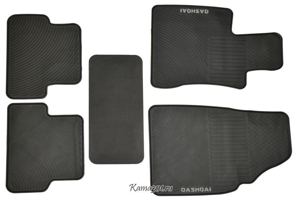Комплект ковриков NISSAN-QASHQAI (2008-) латексный ПВХ